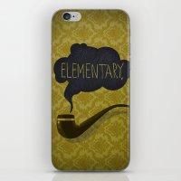 sherlock iPhone & iPod Skins featuring sherlock by serbangabriel