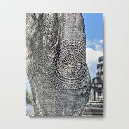 Chakra Detail on Naga Sculpture, Angkor Wat Metal Print