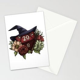 Wizard Class D20 - Tabletop Gaming Dice Stationery Cards