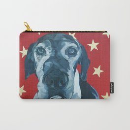 Starry Leonard the Black Lab Dog Portrait Carry-All Pouch