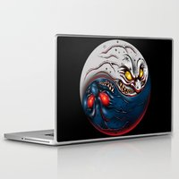 ying yang Laptop & iPad Skins featuring ying yang by EPIK