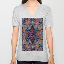 Colorful Seamless Flower Pattern Unisex V-Neck
