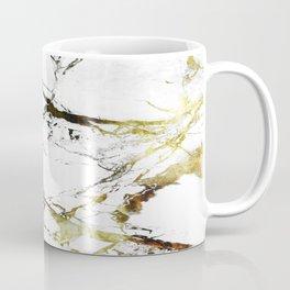 Gold-White Marble Impress Coffee Mug
