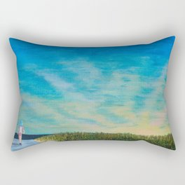 Walking to the Beach Rectangular Pillow