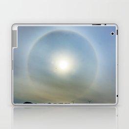 Plane in the Sun circle Laptop & iPad Skin