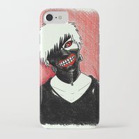 tokyo ghoul iPhone & iPod Cases featuring Kaneki - Tokyo Ghoul by Kelly Katastrophe