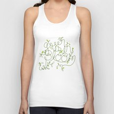 Green is in Bloom Unisex Tank Top
