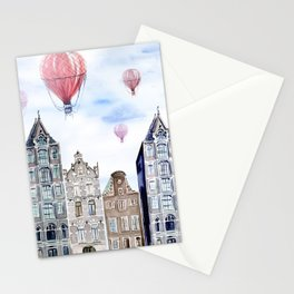 Amsterdam  watercolor Stationery Cards