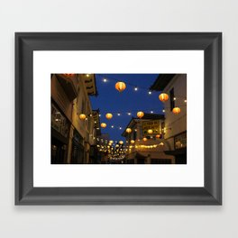 Chinatown Lanterns in L.A. Framed Art Print