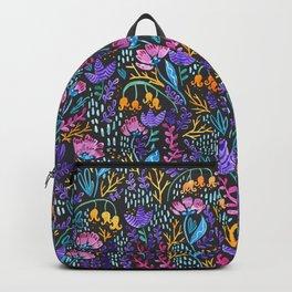 Wonderland Flower Pattern Backpack