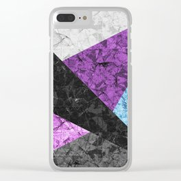 Marble Geometric Background G437 Clear iPhone Case