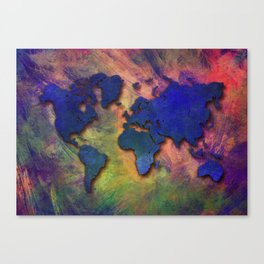 World map special 5 Canvas Print