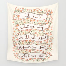 Sense and Sensibility quote Wall Tapestry