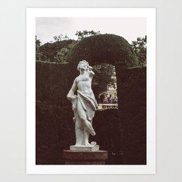 Elegant Renaissance White Marble Statue Photography Art Print