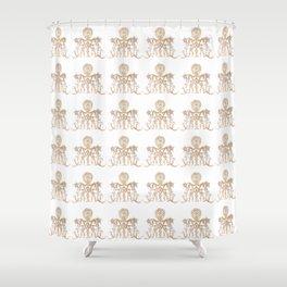 Indian henna in white background Shower Curtain