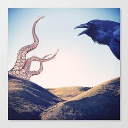 Raven vs Kraken Canvas Print