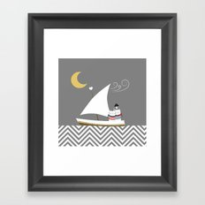 Nautical Sailor Cats Framed Art Print