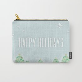Happy Holiday Trees Carry-All Pouch