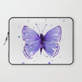 Butterfly Painting Purple Violet Abstract Butterfly Laptop Sleeve