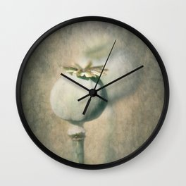 Perfect Poppy Pod Wall Clock