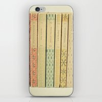 yellow iPhone & iPod Skins featuring Old Books by Cassia Beck