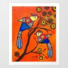 Bird Pair Art Print