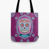 mexican Tote Bags featuring Mexican Skull by Xonomitl