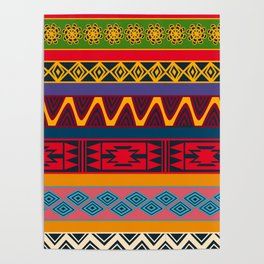 African pattern No4 Poster