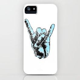 Metal Hand Sign Hard Rock fan gift devil horns Guitar Music iPhone Case