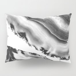 Gray Black White Agate #2 #gem #decor #art #society6 Pillow Sham