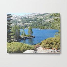 Inlet, lake, water, nature, road trip Metal Print
