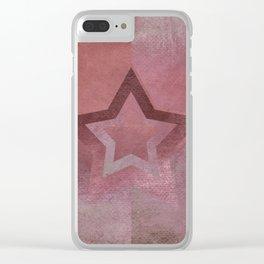 Suprematist Star VI Clear iPhone Case