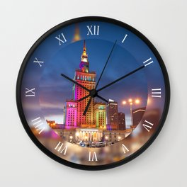 Rainbow colors at the building Wall Clock