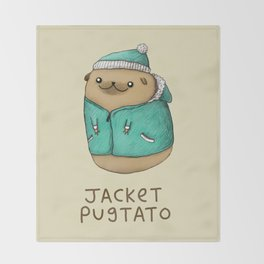 Jacket Pugtato Throw Blanket