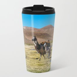 Mother and Baby Llama in Bolivia Travel Mug