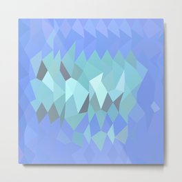 Lavender Abstract Low Polygon Background Metal Print