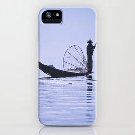 FISHERMAN AT INLE LAKE II iPhone Case