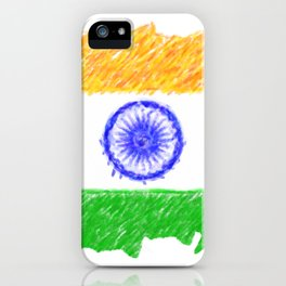 painting artistic effect india flag iPhone Case