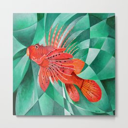 Marine Fire Fish or Lionfish Metal Print