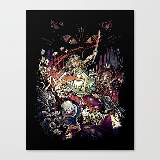 Zombies in Wonderland Canvas Print