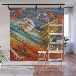 "African American Classical Masterpiece ""Big Wind in Georgia"" by Hale Woodruff Wall Mural"