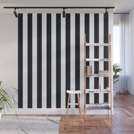 Vertical Stripes Black & White Wall Mural
