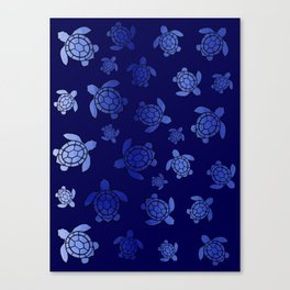 Sea Turtle Blues Canvas Print