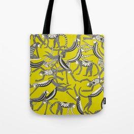 monkey chartreuse Tote Bag