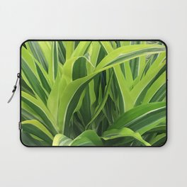 Exotic Lush Green Leaves Laptop Sleeve