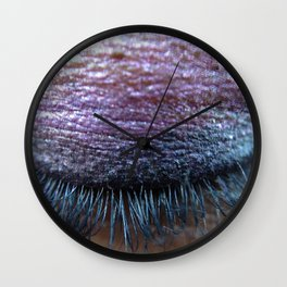 Purple Eye Wall Clock