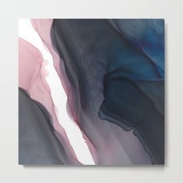Abyss Fluid ink abstract watercolor Metal Print