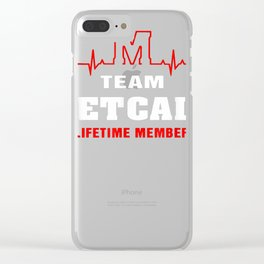 Team Metcalf lifetime member shirt surname, last name gift T-Shirt Clear iPhone Case