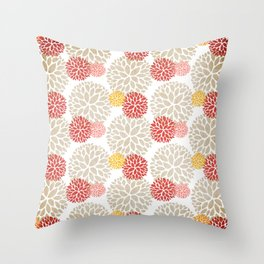 blooming summer Throw Pillow