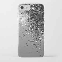 Sparkling Silver Gray Lady Glitter #1 #shiny #decor #art #society6 iPhone Case